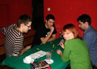 Marek (edrache), Nikodem (nixnicky), Marcin (noowy) i Ela (olimpia) grają w Dominion