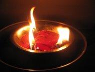 Prowizoryczna świeczka.